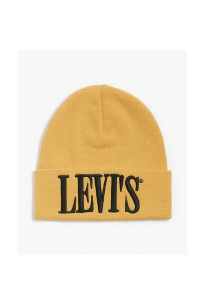 Serif Logo Beanie - Medium Yellow