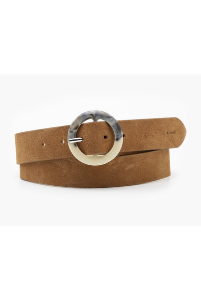Tortoise Buckle Belt - Light Brown