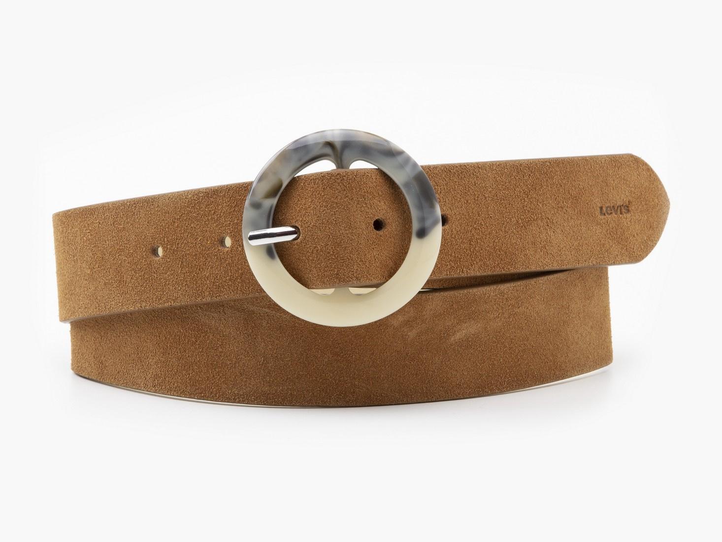 Tortoise Buckle Belt - Light Brown-1