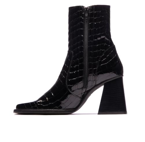 Melana Black Crocro Leather-2
