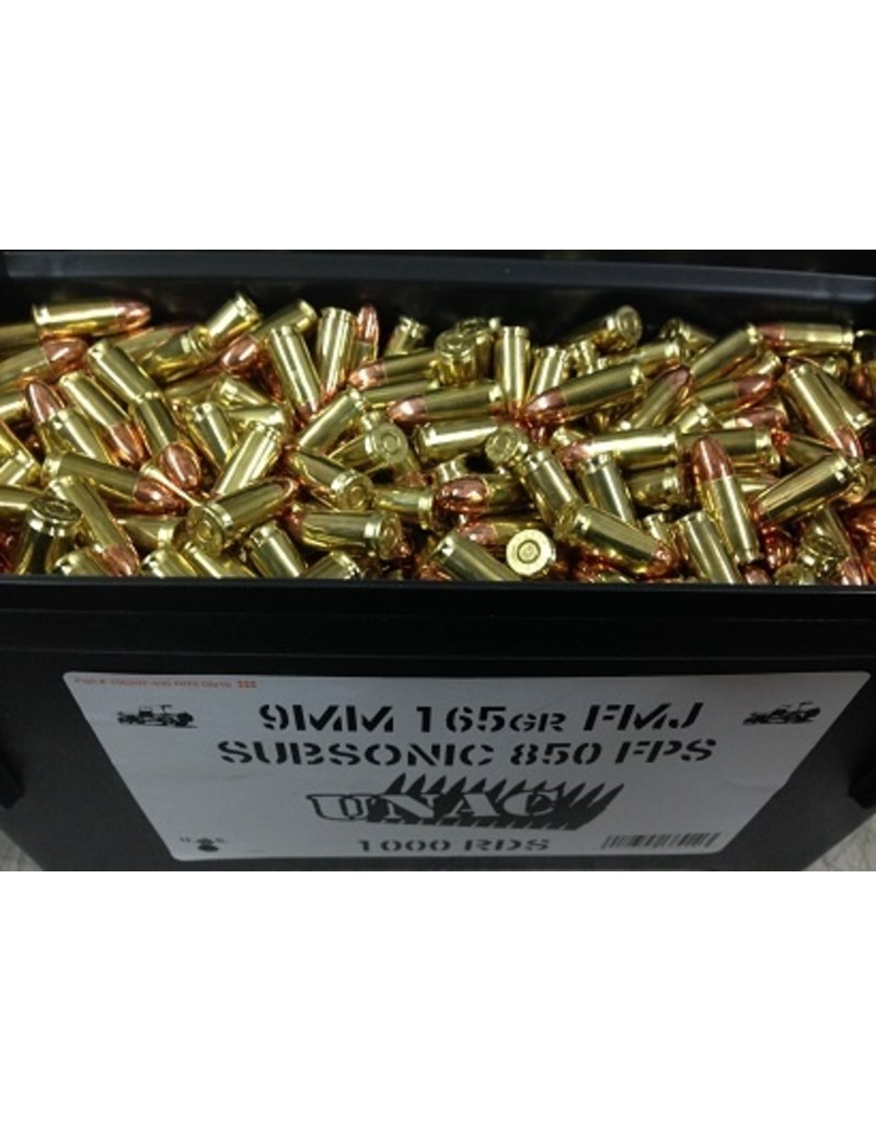 UNAC 9mm 165gr Subsonic UNAC 1000rd