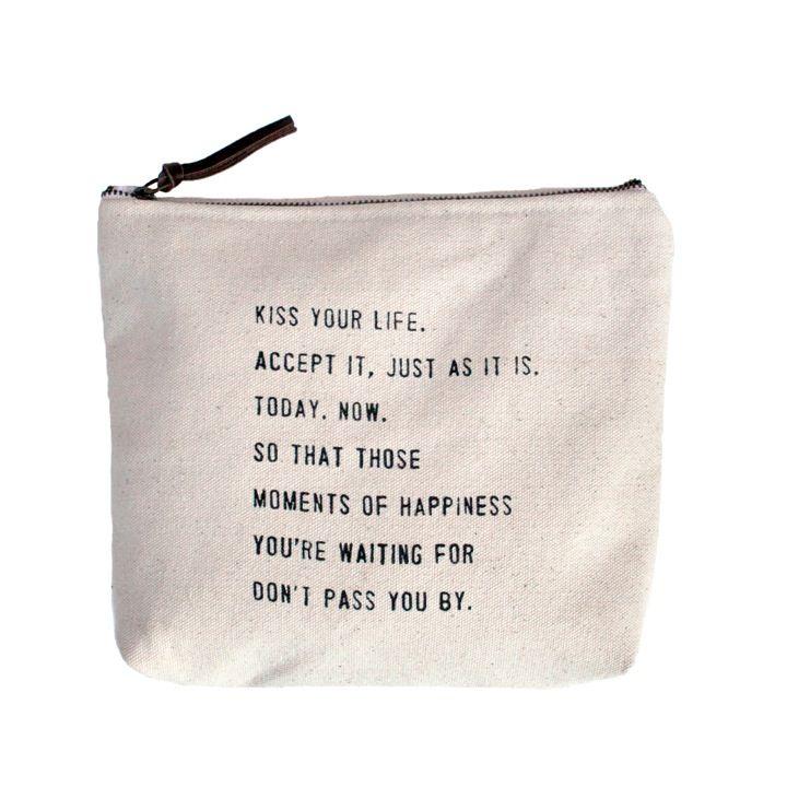 Kiss Your Life Canvas Bag