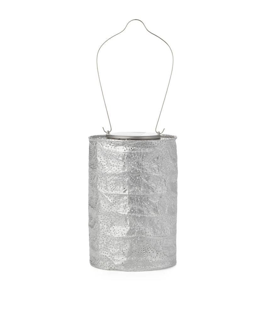 "Solar Lantern - Silver 7.5"""