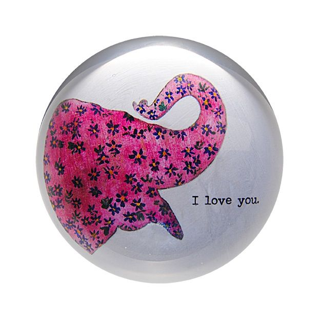 """Pink Elephant  Paperweight 4"""""""