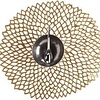 """Chilewich Pressed Dahlia Table Mat - Brass 14.25"""" x 15.25"""""""