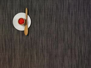 "Chilewich Bamboo Table Mat - Grey Flannel 14"" x 19"""