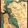 "San Francisco/Bay Area Wood Carving 24.5""W x 31""L"