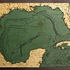 """Gulf of Mexico Wood Carving <br />24.5""""L x 31""""H"""
