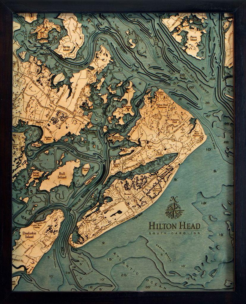 "Hilton Head Wood Carving 16"" x 20"""