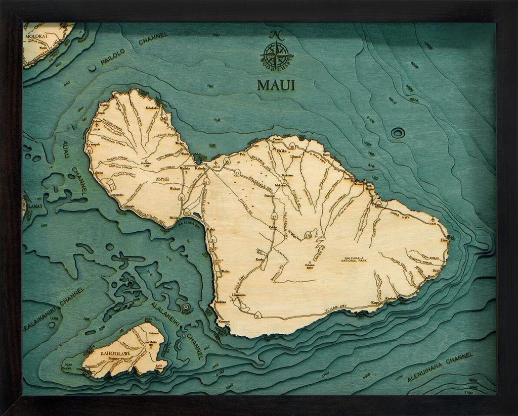 "Maui Wood Carving 16"" x 20"""