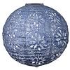 "Boho Solar Lantern - Sky Blue Metallic 12"""