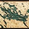 "Lake Winnepesaukee Wood Carving 24.5""L x 31""W"