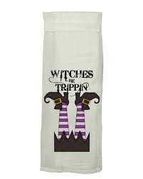 Flour Sack Kitch Towel - Witches Be Trippin
