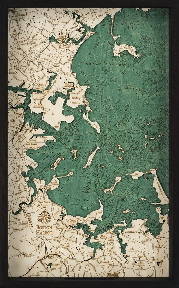 "Boston Harbor Tray 22"" x 21"" x 14"""