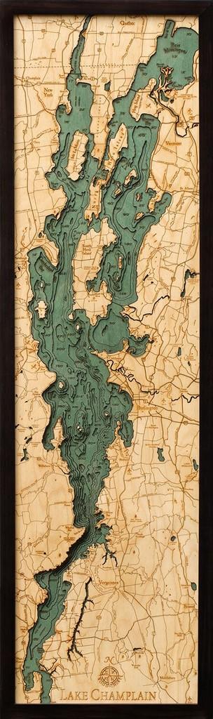 "Lake Champlain Wood Carving 13.5""W x 43""L"