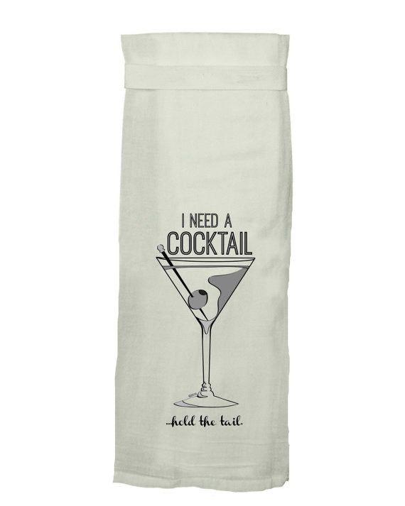 Flour Sack Kitch Towel - Cocktail