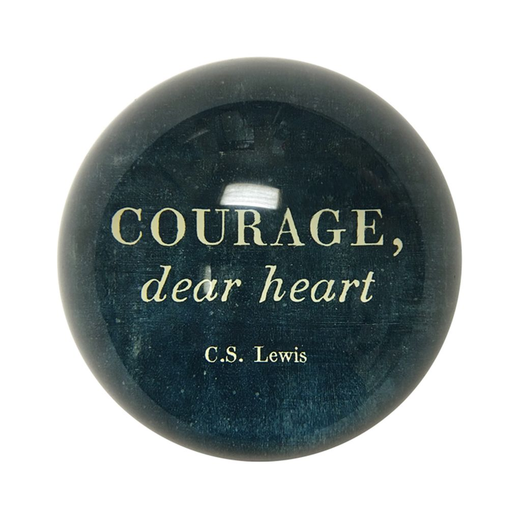 Courage Paperweight 4""