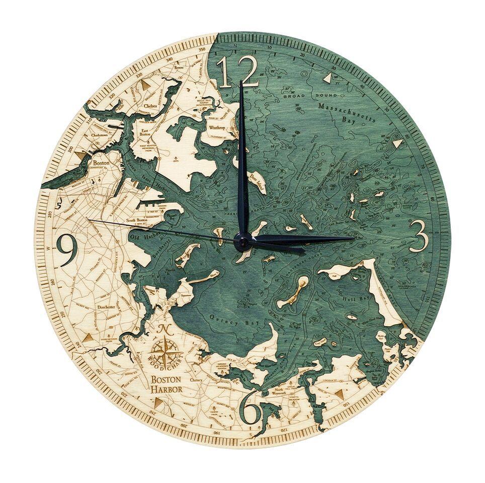 "Boston Wood Clock 12"""
