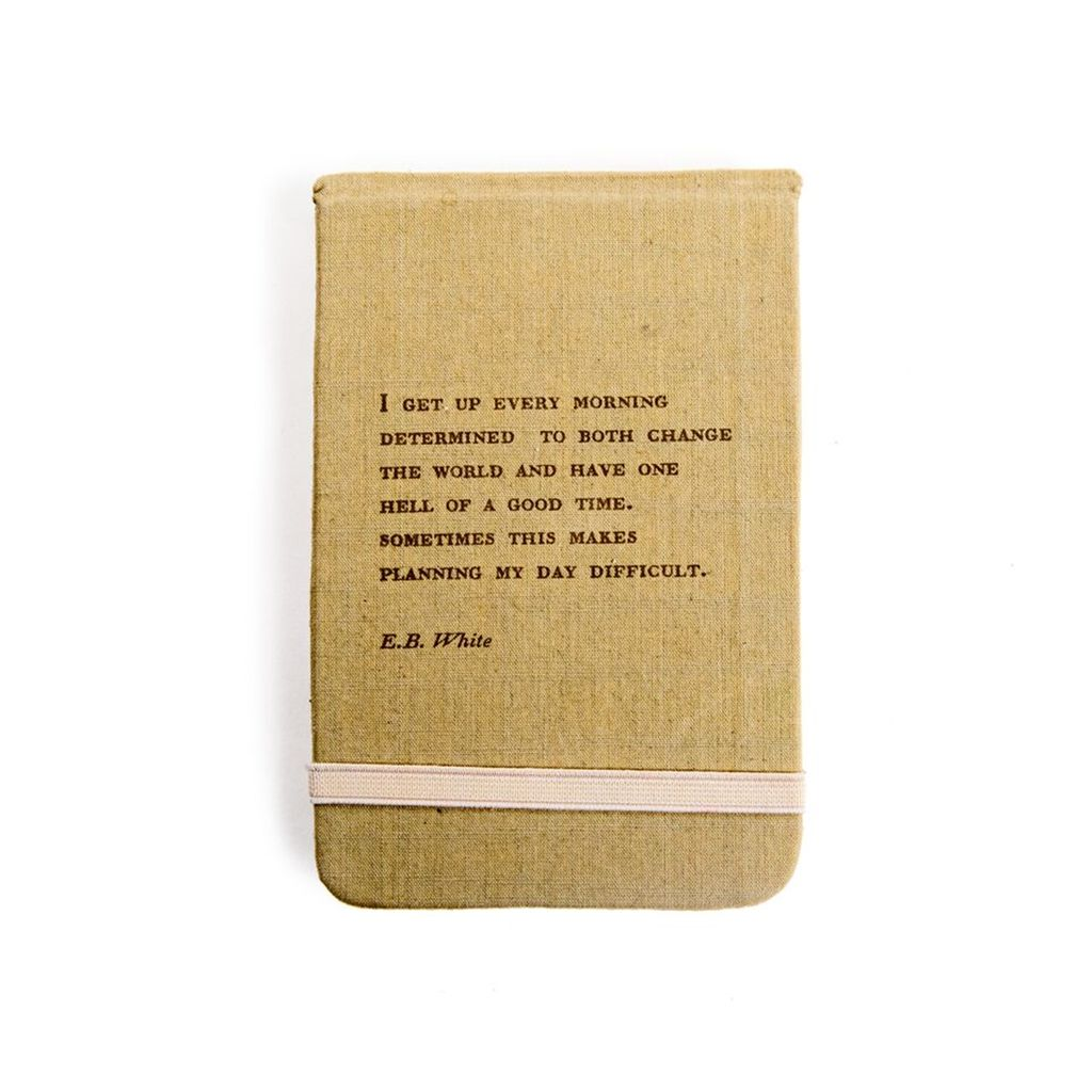 "Fabric Notebook - E.B. White 3.5"" x 5.5"""