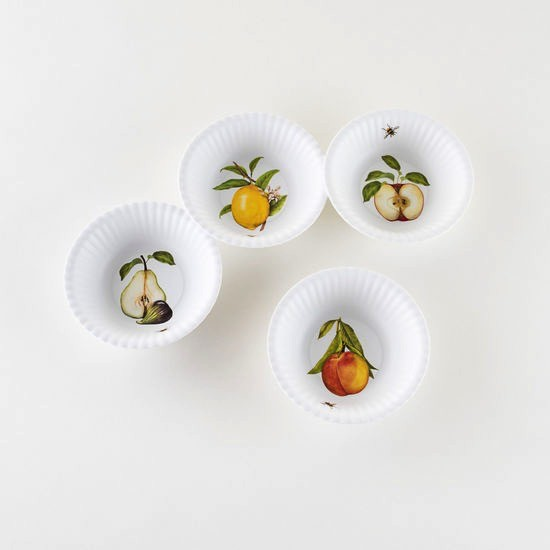 "Melamine ""Paper"" Fruit Bowls - 6"" Set of 4 Assorted"