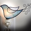 "Night Light - Blue Bird Wire Tail  4"" x 2"" x 5.5"""