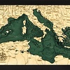 "Mediterranean Sea 13.5"" x 31"""