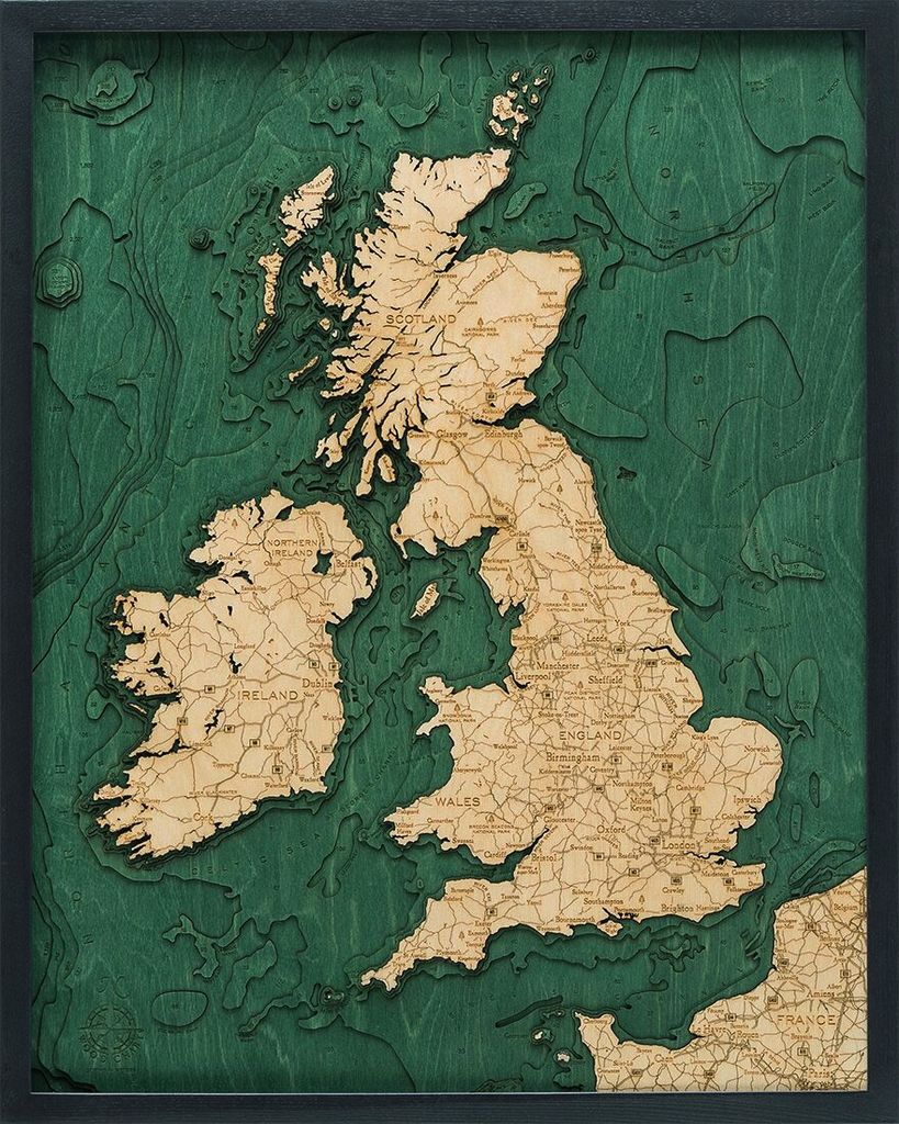 "United Kingdom 24.5"" x 31"""