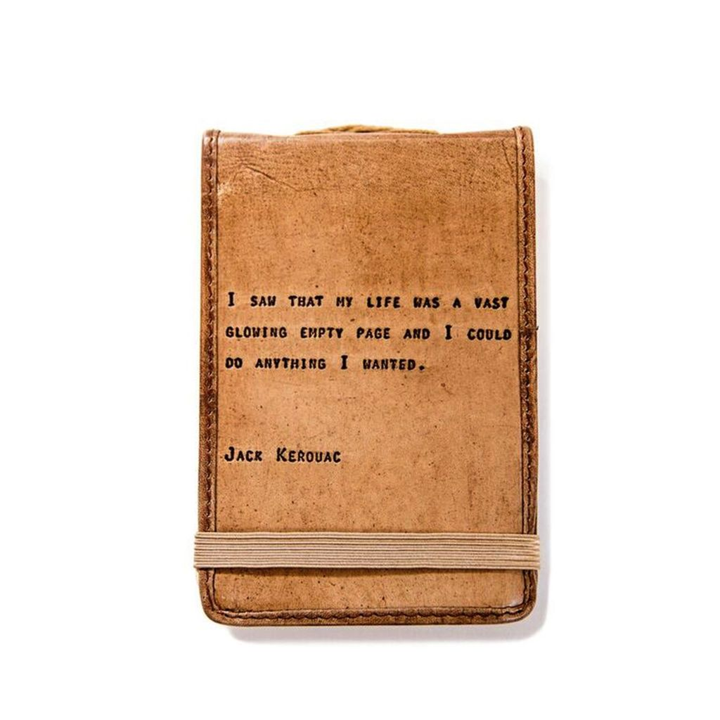 "Leather Journal Mini - Jack Kerouc 4"" x 6"""