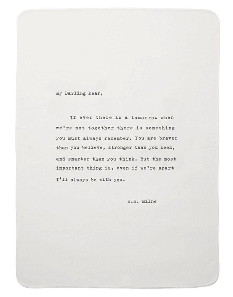 """Adult Blanket - Darling Dear 51"""" x 63"""""""