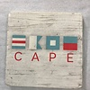 cape flag Coaster -Natural Stone