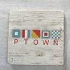 ptown flag Coaster - Natural Stone