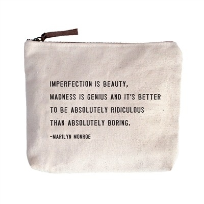 Imperfection Is Beauty Canvas Bag