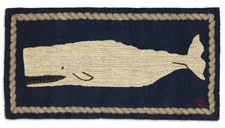 Moby Dick Rug - Blue & White 2' x 4'