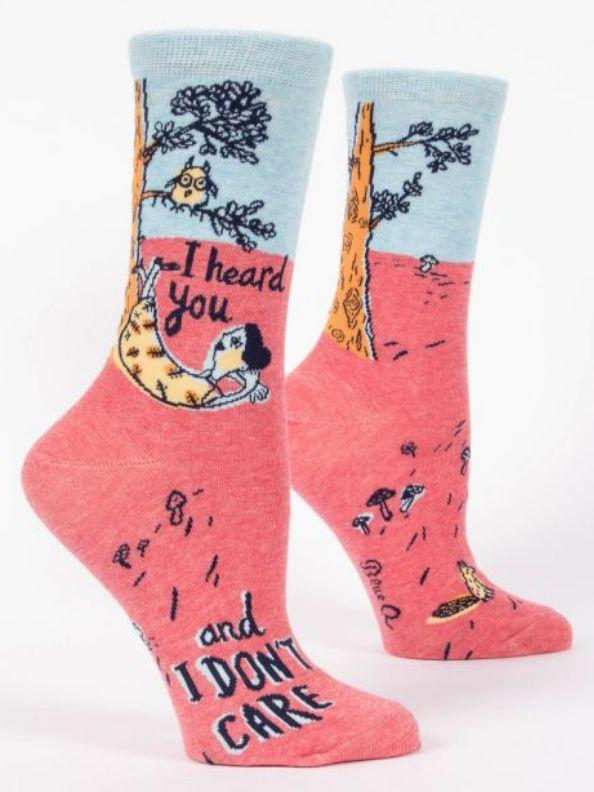 I Heard You Don't Care Women's Socks