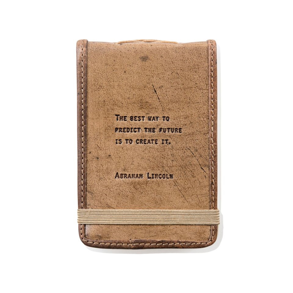 "Leather Journal Mini - Abraham Lincoln 4"" x 6"""