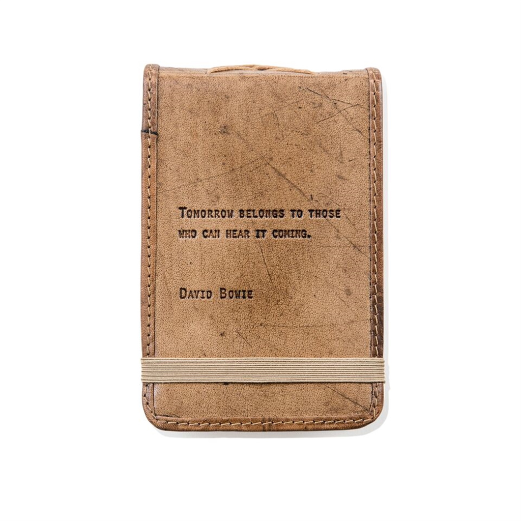 "Leather Journal Mini - David Bowie 4"" x 6"""
