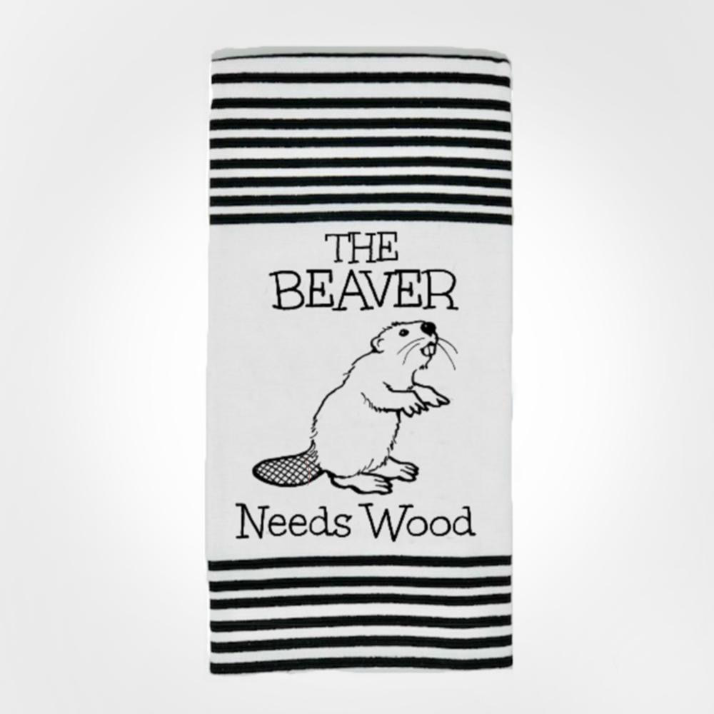 Beaver Needs Wood Twisted Terry Towel