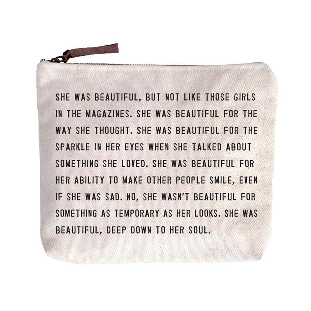 She Was Beautiful Canvas Bag