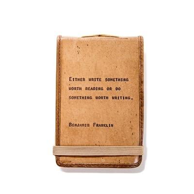 "Leather Journal Mini - Benjamin Franklin 4"" x 6"""