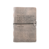 """Grey Leather Journal - Francis Bacon 7"""" x 9.75"""""""
