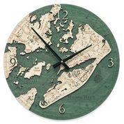 "Hilton Head Wood Clock 12"""