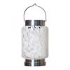 "Solar Cylinder Boater's Lantern - White 4.25""W x 6.5""H"