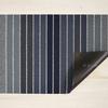 """Chilewich Block Stripe Shag Door Mat- Denim 18"""" x  28"""""""
