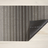 """Chilewich Block Stripe Shag Door Mat- Taupe 18"""" x  28"""""""