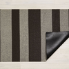 "Chilewich Bold Stripe Shag Door Mat - Pebble 18"" x 28"""