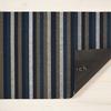 """Chilewich Even Stripe Shag Doormat - Marine 18"""" x 28"""""""