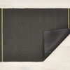 "Chilewich Simple Stripe Shag Utility Mat - Grey Citron 24"" x 36"""