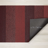 "Chilewich Marble Stripe Shag Door Mat - Ruby 18"" x 28"""