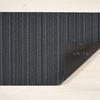 "Chilewich Skinny Stripe Shag Door Mat- Blue 18"" x 28"""