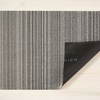 "Chilewich Skinny Stripe Shag Doormat - Birch 18"" x 28"""